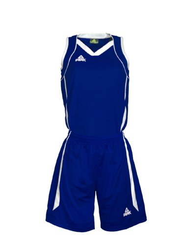 PEAK Sport Europe Damen Basketball Uniform Set Trikot Und Shorts, Royal/White, S, F771102