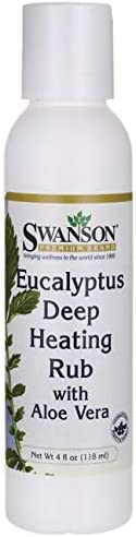 Swanson Eucalyptus Deep Heating Rub w Aloe Vera 4 fl Ounce 118 ml Gel