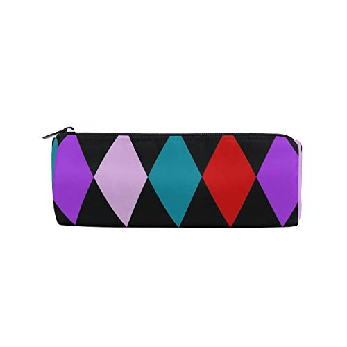 Harlequin Diamonds Color Pencil Pen Case Pouch Bag with Zipper for Girls Boys Kids School Student Stationery Office Supplies