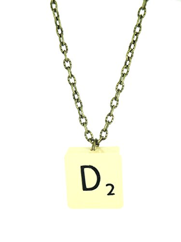 Fallen Saint Letter D Vintage Scrabble Tile Necklace Gift Boxed (Necklace Scrabble Letter)