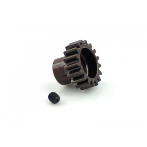 Hardcoated Spring Steel 17T Mod1 Pinion Gear - 5mm Bore Mod 1.0 - Tekno Associated Losi TLR 17t Steel Pinion Gear