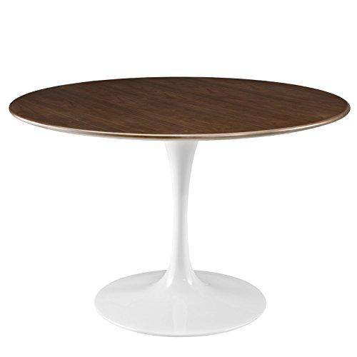 Modway Lippa 47 Walnut Dining Table in Walnut