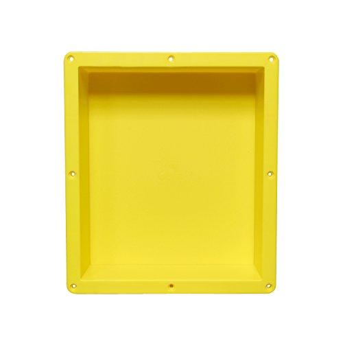 7Penn Shower Niche 14 x 16 Inch Single Shelf Shower Insert Shower Shelves for Tile Walls - Wall Niche Shower - Right Tiling Flange