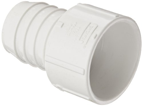 - Spears 474 Series PVC Pipe Fitting, Adapter, Schedule 40, White, 1-1/2