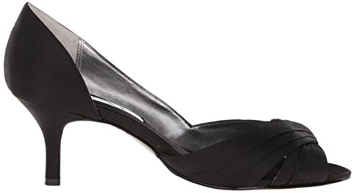Luster Nina Women's Satin Bridal Culver Black Pump vOwAqO1XZn