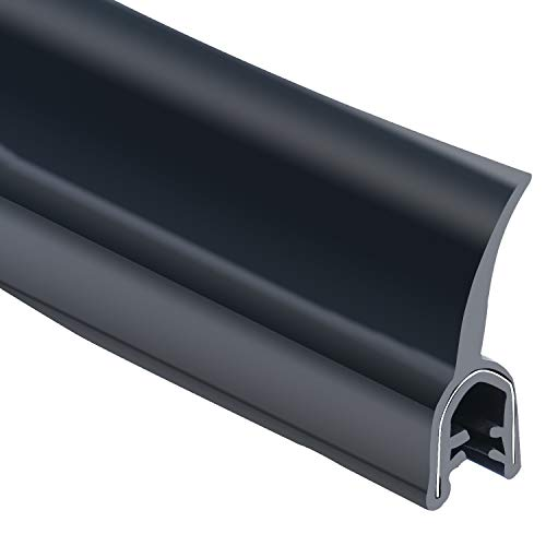 Homend 25FT EPDM Dual Durometer Rubber/Metal Carrier Flap Seal, Fits Edge 0.050