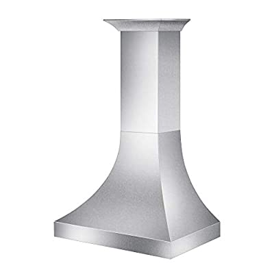"ZLINE 36"" Designer Series Snow Stainless Finish Wall Range Hood (8632S-36)"