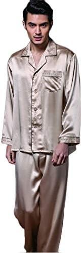 ンパジャマ 男子100%マルベリーシルク軽量長袖パジャマ設定された印刷パンツラウンジウェアボタンPJの首輪パジャマ -4561