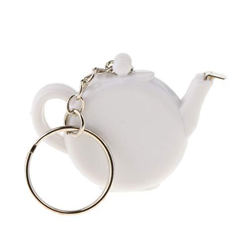 - Prettyia Tea Pot Key Ring Tape Measure Keychain Wedding Party Gift Favors