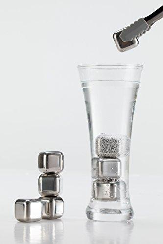 ステンレス氷 アイスキューブ 溶けない氷 ウイスキーロック ワインクーラー ステンレス氷 永久氷 [8個セット 専用保存箱付き]