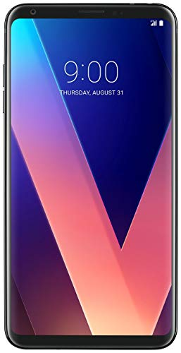 LG V30+ (PLUS) 128GB Factory Unlocked GSM + CDMA Smartphone, Aurora Black (AT&T, T-Mobile, Verizon, Sprint) (Renewed)
