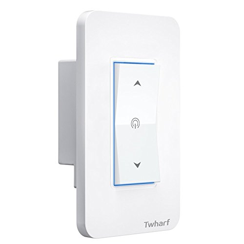 Wall Light Switch Wifi Smart Dimmer Electrical Switch Work with Alexa Google Home and Google Nest Timer and Remote Control by Twharf