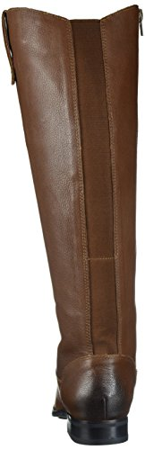 206 Collective Womens Whidbey Wide Calf Reitstiefel Cognac-Leder