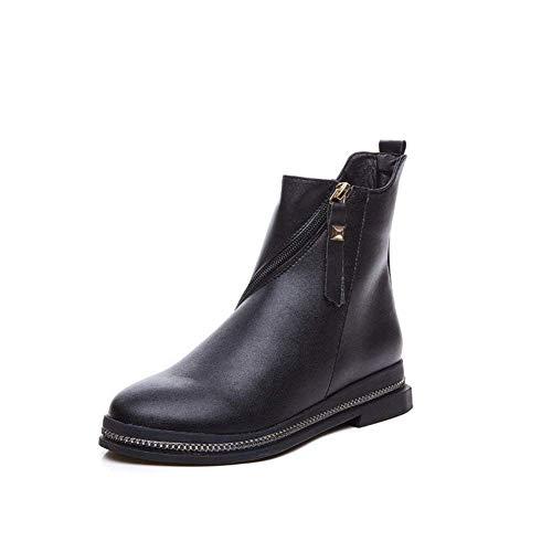 's Eu De 37 Las Botas Boots Ocasionales Pu Deed Bajas negro Mujeres Eu La 37 Bota Planas nfxF4qa