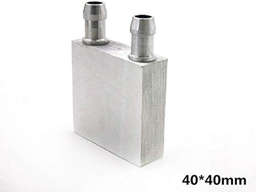 KEKDORY Aluminium PC CPU Laptop K/ühler 40 80 120 160 200 240 Wasserk/ühlblock f/ür Fl/üssigwasserk/ühlung K/ältematch Silber 40x40mm