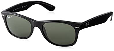Ray-Ban RB2132 New Wayfarer Sunglasses,Black,Green Polarized