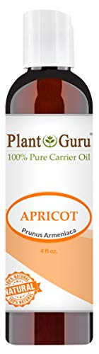 Apricot Kernel Oil 4 oz Cold Pressed Carrier 100% Pure Natural For Skin, Face, and Hair Growth Moisturizer. Great For DYI Creams, Lotions, Lip balm and Soap Making