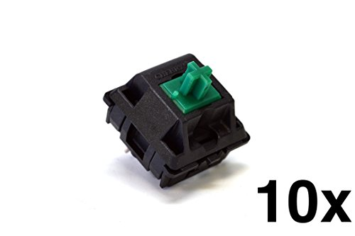 Cherry MX Green Keyswitch (10 pack) - MX1AF1NN | Plate Mounted | Tactile Click | by himalayanelixir
