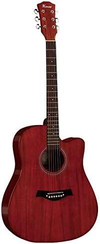ギター フルサイズのアコースティックギター初心者Professionalのソリッドウッドベニヤギター 入門 ギター (Color : Red, Size : 41 inches)