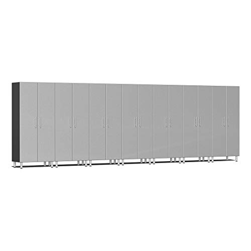 Ulti-MATE UG22670S 7-Piece Tall Garage Cabinet Kit in Stardust Silver - Piece Garage Cabinet 7