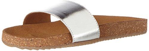 Buffalo Women's 7560 Goat Foil Sandals Silver kye7dGvI