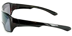"""""""Top Deck"""" Bifocal Reading Sunglasses with Large Field of View for Youthful and Active Men and Women (Brown +3.00)"""