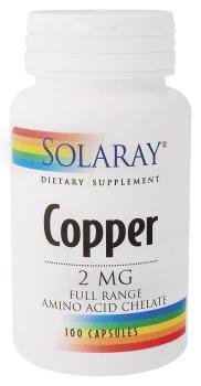 Solaray - Cuivre, 100 comprimés