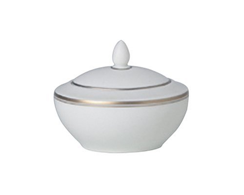 (Royal Doulton Oxford Platinum Covered Sugar Bowl)
