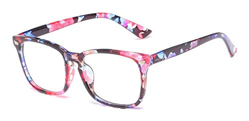 Blue Ray Unisex Women's Blue Light Blocking Computer Glasses - Modern & Stylish (Blossom)