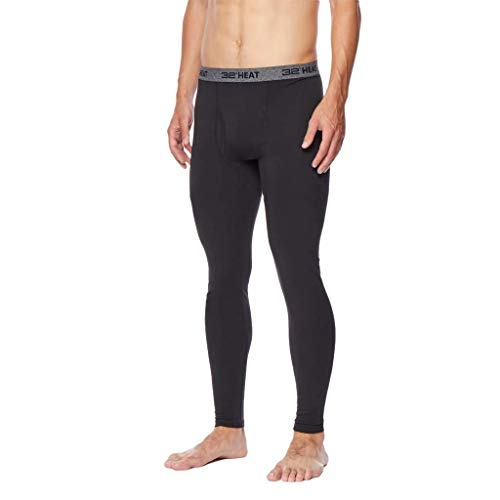 Mens Heat Plus Baselayer Legging, Black, XLarge