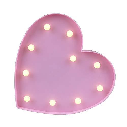 Pink Heart Led Lights in US - 5