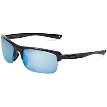 Revo Mens Crux N RE4066-02 Polarized Iridium Sport Sunglasses,Polished Black,55 mm