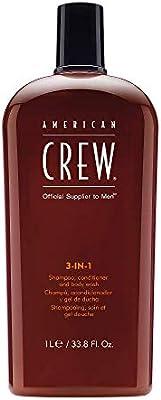 American Crew Men Classic 3 In 1 Shampoo Conditioner Body Wash, 33.8 Ounce