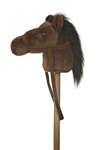 "Aurora World World Giddy-Up Stick Pony 37"" Plush, Dark Brown"