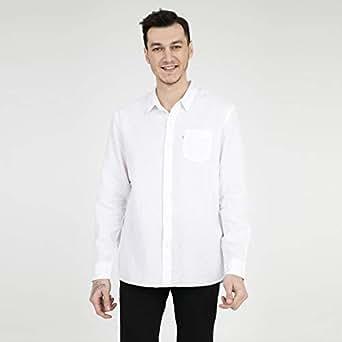 Levi's Erkek Sunset 1 Pocket Shirt Günlük Gömlek, Bej, X-L Beden