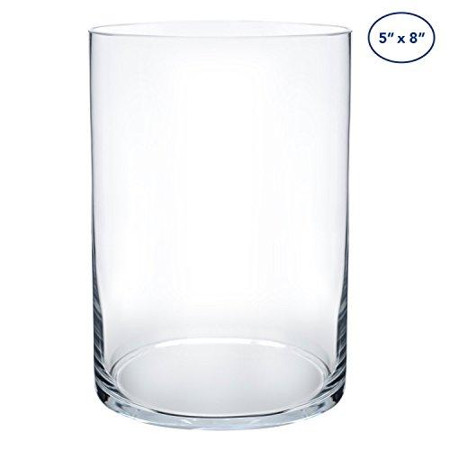 - Royal Imports Flower Glass Vase Decorative Centerpiece Home Wedding Cylinder Shape, 8