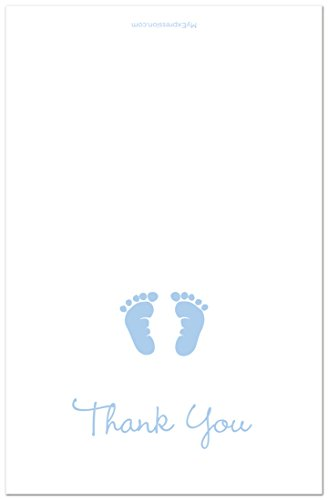 50-Cnt-Baby-Footprint-Boy-Baby-Shower-Thank-You-Cards