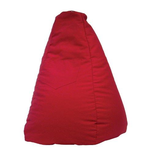 Bag Bean 102 Chair (Gold Medal Bean Bags Dorm/Gamer Tear Drop Denim Look Bean Bag with Pocket, Red)
