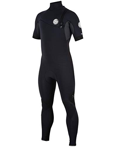 Rip Curl E Bomb Zip Free Entry 2/Short Sleeve Wetsuit, Black/Black, Mt