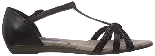 Sandalen 28137 T Tamaris 001 Schwarz Keilabsatz mit Spangen Damen Black xIwqwRv