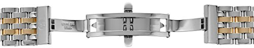 MICHELE MS18AU285048 Deco 18mm Stainless Steel Two Tone Watch Bracelet by MICHELE (Image #2)