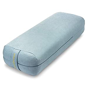 Ajna Yoga Bolster Pillow for Meditation and Support – Rectangular Yoga Cushion – Yoga Accessories from Machine Washable with Carry Handle