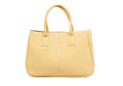 [Bundle Monster Womens PU Faux Leather Lady Tote Shoulder Handbag Purse Bag - CREAM YELLOW] (Yellow Purses)