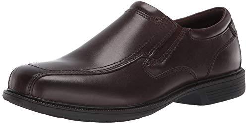 Nunn Bush Men's  Bleeker Street Slip On Loafer with KORE Slip Resistant Comfort Technology, Brown, 14 Medium US