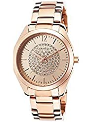 Caravelle New York Womens 44L160 Analog Display Analog Quartz Rose Gold Watch
