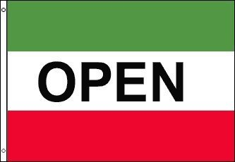 3'x5' ITALIAN OPEN FLAG, Red White and Green