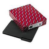 Smead Folder, Letter, Interior, 1/3 Cut Tab, Black, 100 Per Box (10243), Office Central