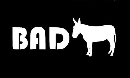 Bad Ass Decal Vinyl Sticker|Cars Trucks Walls Laptop|WHITE|7.25 X 2.75 In|URI092