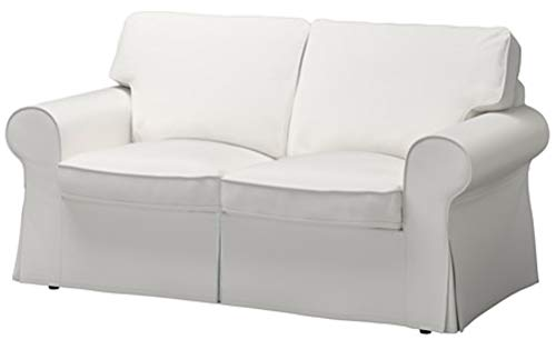 The Cotton Sofa Cover is 2 Seat Sofa Slipcover Replacement. It Fits Pottery Barn PB Basic Loveseat Sofa (White) ()