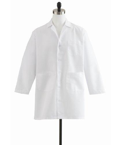 Men's Staff Length Lab Coat - Mens Staff Lab Coat